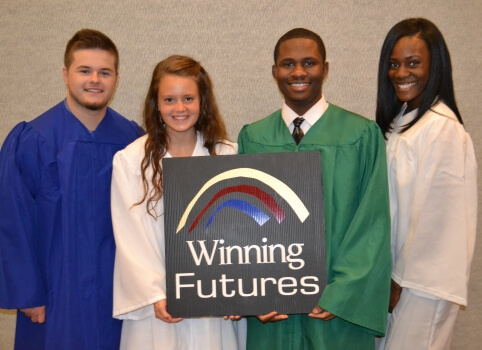 Student scholarship winners at the 19th Annual Winning Futures Award celebration.
