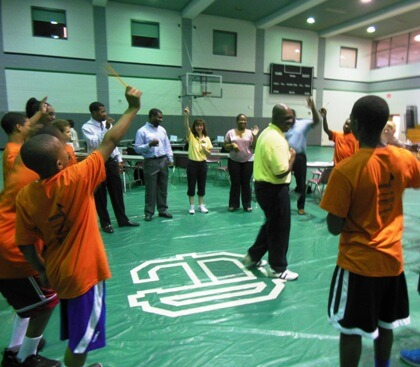 Students at the Greg Kelser Basketball Camp.