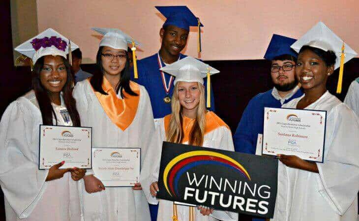 Students-with-Winning-Future-Sign_730x449